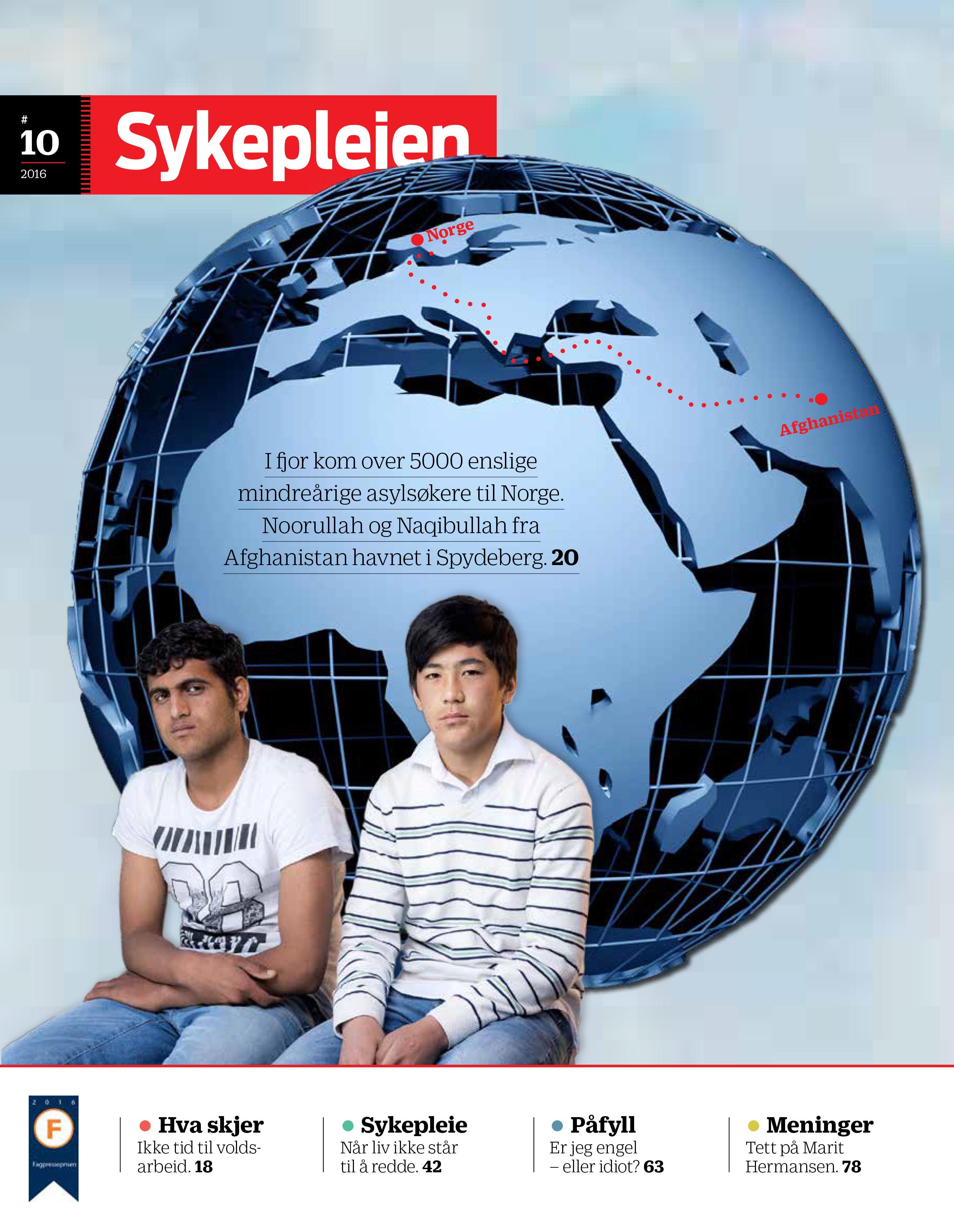 Forsiden til Sykepleien 10/2016